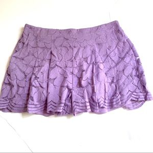 Torrid Purple Cotton Poly Skort Elastic Lined Sz2X